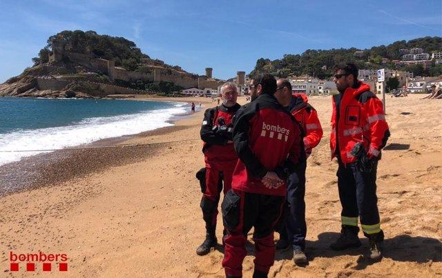 Sucesos.- Sigue la búsqueda del pescador desaparecido en Tossa de Mar (Girona)