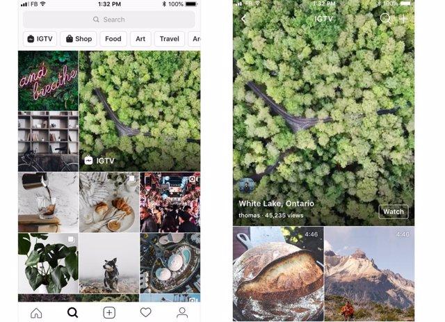 Instagram rediseña su pestaña Explore añadiendo Stories, IGTV y compras de productos