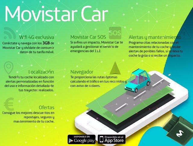 Economía/Motor.- Telefónica lanza Movistar Car en España para convertir el vehículo en un coche conectado