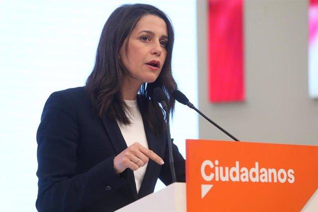 """26M.- Arrimadas dice que Navarra Suma es """"la única garantía para evitar un Gobierno del populismo y el nacionalismo"""""""
