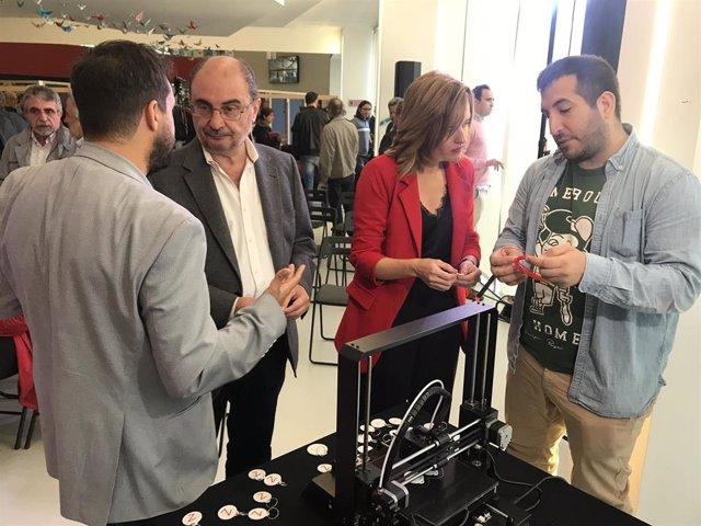 26M.- Zaragoza.- Lambán Y Alegría (PSOE) Quieren Que La Ciudad Sea Líder En La Economía TIC Con 'Zeta Creativa'