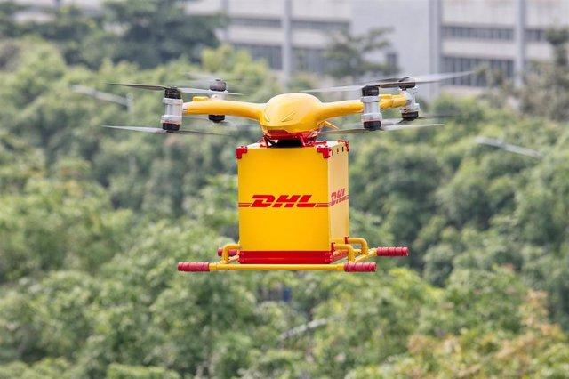 Resultado de imagen de imagen drones dhl