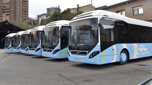 Autobuses híbridos del TUS