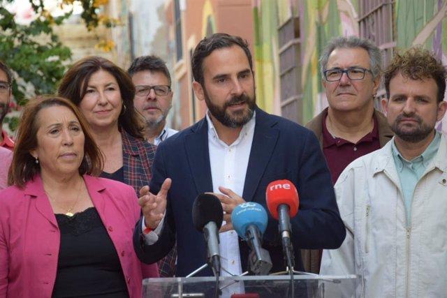 Málaga.- 26M.- PSOE propone un plan especial que transforme el barrio malagueño de Laguinillas en un polo cultural