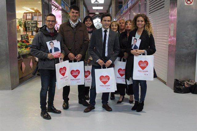 26M.- Casares (PSOE) Se Compromete A Reconvertir El Mercado De México En Un Espacio Gastro-Cultural