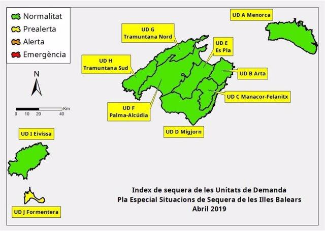 Las reservas hídricas de Balears caen hasta el 60% en abril