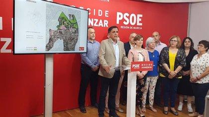 Serrano (PSOE Murcia) presenta el primer mapa de espacios públicos libres del municipio