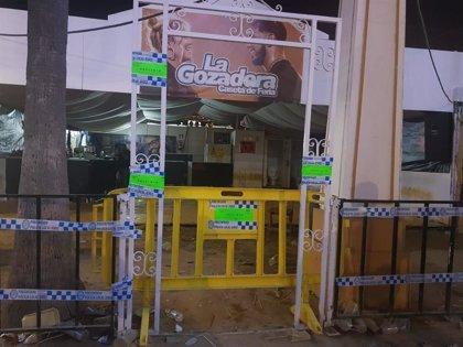 Clausurada una caseta de la Feria de Jerez por vender alcohol a menores de edad