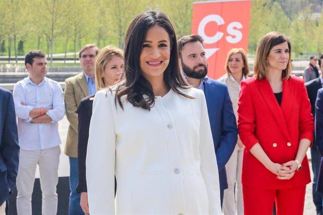 La candidata de Ciudadanos a la Alcaldía de Madrid, Begoña Villacís, presenta la lista con la que concurrirá a las próximas elecciones municipales del 26 de mayo