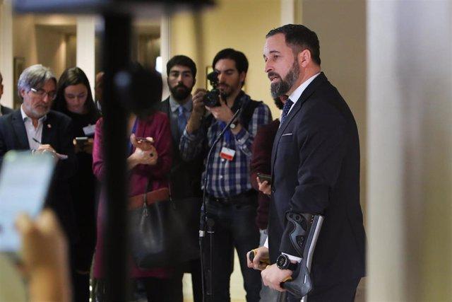 Los 24 diputados de Vox se fotografían en la escalinata principal del Congreso