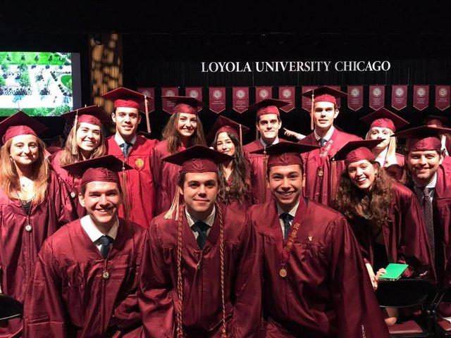 Sevilla.-Catorce alumnos de la tercera promoción de Loyola Andalucía se gradúan en Chicago con un doble Grado