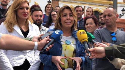 Susana Díaz, segura de que el Gobierno de Moreno no exigirá una financiación justa para Andalucía