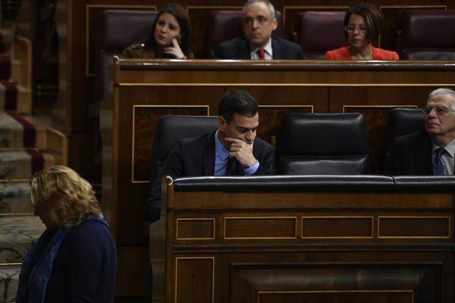 Pedro Sánchez comparece en el Congreso para informar de la situación en Cataluña y de los acuerdos sobre el Brexit