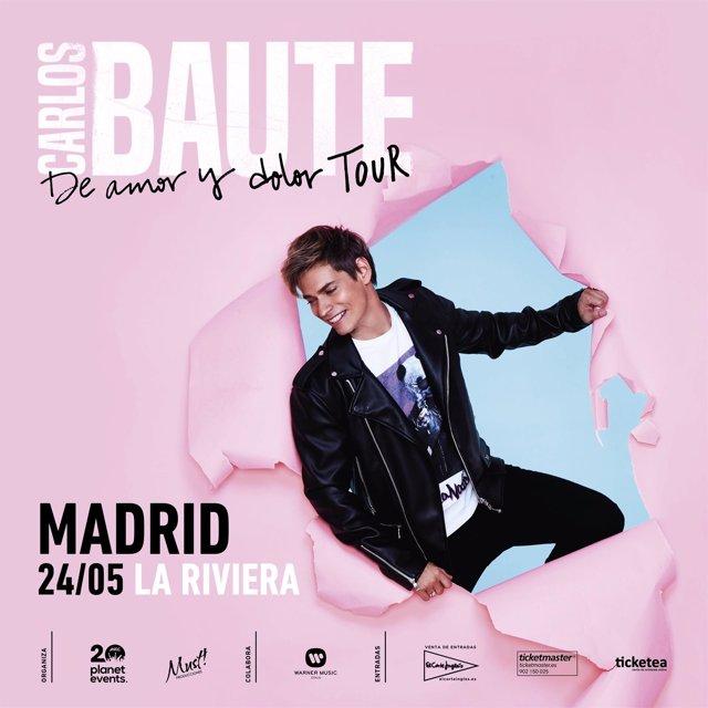 Carlos Baute presenta nuevo álbum en La Riviera madrileña