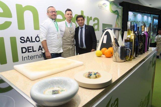 Jaén.- MásJaén.- Los cocineros Pedro Sánchez y Álvaro Salazar divulgan el uso de AOVE en la cocina