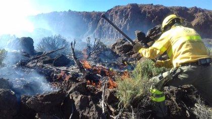 El Cabildo de Tenerife da por controlado el incendio del Teide