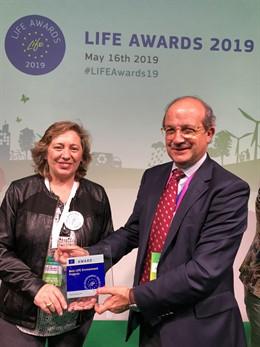 El proyecto navarro de gestión integrada de plagas 'Life AGROintegra', premiado en Bruselas