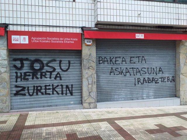 --PSE-EE De Bizkaia Expresa Su Rotunda Condena Por El Ataque Contra La Casa Del Pueblo De Sopela