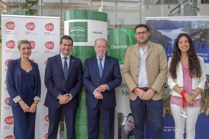 """""""Encuentro provincial de negocios"""" en Guillena con unos 50 empresarios de la mano de Prodetur y AJE"""