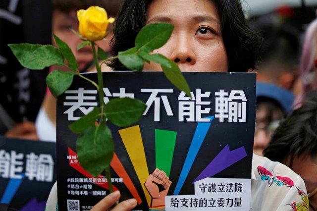 Taiwán.- El Parlamento somete a debate el proyecto de ley para legalizar el matrimonio entre personas del mismo sexo