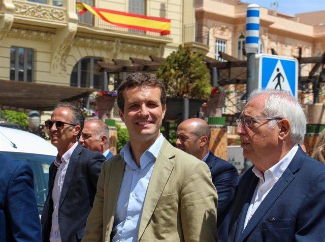 Pablo Casado visita la ciudad autonómica de Melilla