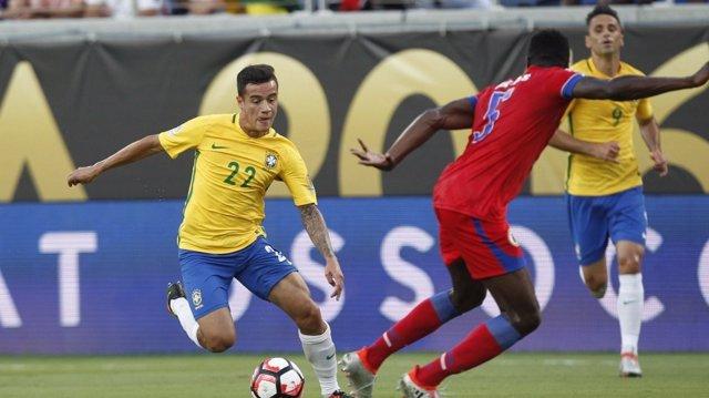 Coutinho en el Brasil-Haití de la Copa América
