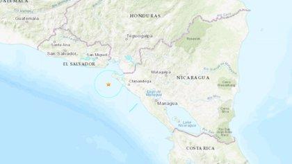 Un sismo de 5,9 grados sacude la costa de El Salvador y Nicaragua