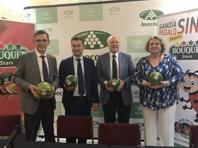 Almería.-Anecoop prevé comercializar durante esta campaña unas 150.000 toneladas de sandía, la mayoría sin pepitas
