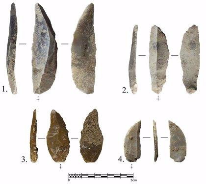 Hallan herramientas de caza de hace 40.000 años en una cueva de Calafell