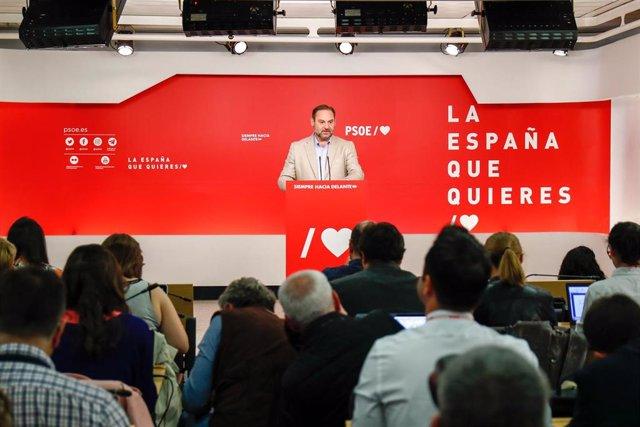 Reunión de la Comisión Ejecutiva Federal del PSOE en su sede de Madrid