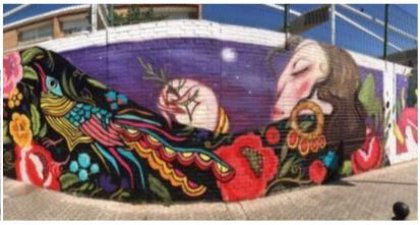 Tres Culturas organiza en Sevilla una creación en un muro de 44 metros que toma a Marifé de Triana como motivo