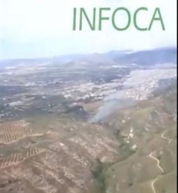 Málaga.- Sucesos.- Declarado un incendio forestal en un paraje de Antequera
