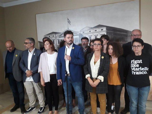 España.- Rufián cree que Iceta no quería ser elegido y confirma que PSOE y ERC mantienen contactos pese al veto