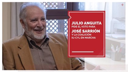 Anguita pide el voto para Sarrión en un vídeo en el que alaba su trabajo, capacidad y conocimientos