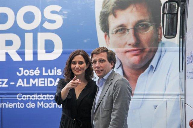 """VÍDEO: 26M.- Los 'PPbus' de Madrid echan a andar para convencer al votante y hacer frente al """"espantajo del miedo"""""""