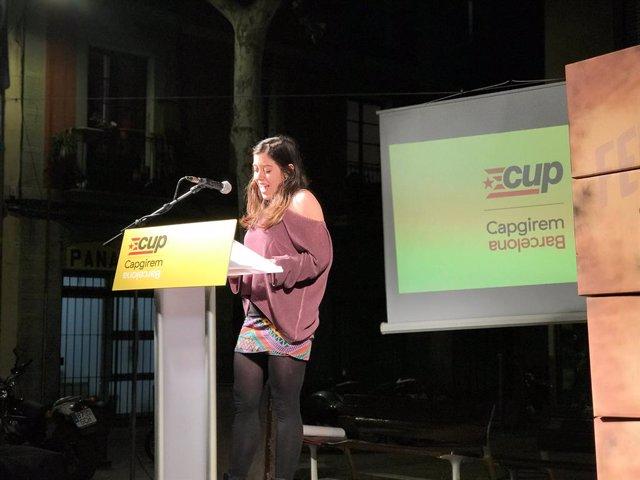 """26M.- Anna Saliente (CUP) reivindica que son la """"clave de la gobernabilidad"""""""
