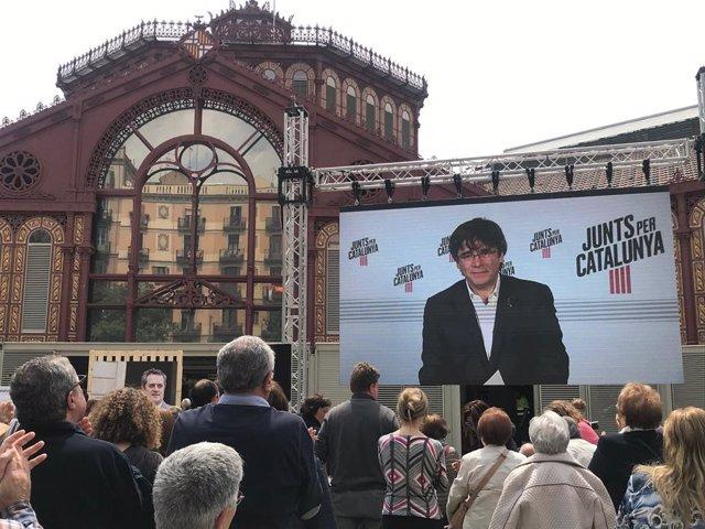 """AV- 26M.- Puigdemont apel·la a situar """"veus lliures"""" en la UE i la de Forn a Barcelona"""
