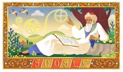 Google dedica su 'doodle' al nacimiento de Omar Khayyam