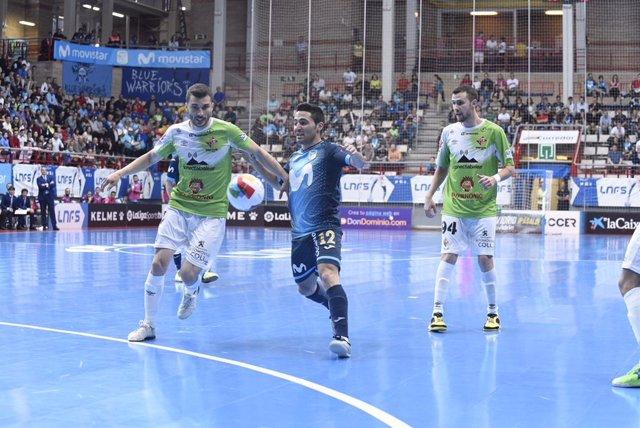Borja Díaz, durante un partido con el Movistar Inter.
