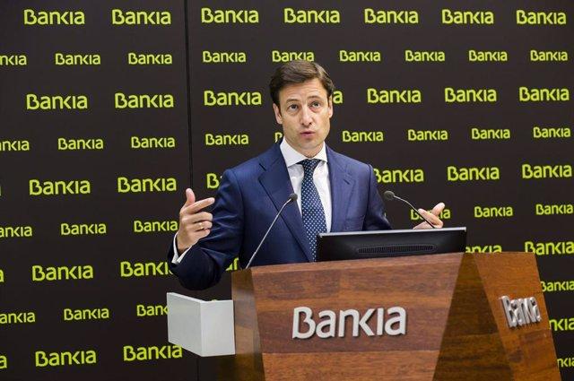 Leopoldo Alvear, director financiero de Bankia, presenta resultados trimestrales