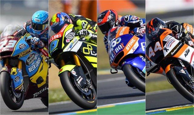 AMP.- Motociclismo/GP Francia.- Àlex Márquez lidera el triplete español en Moto2 y Canet conserva el liderato de Moto3