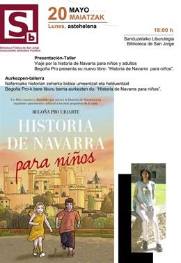 La escritora y periodista Begoña Pro presenta este lunes 'Historia de Navarra para niños' en la Biblioteca de San Jorge