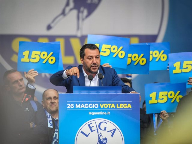League party rally in Milan