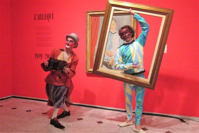 """El Museu Picasso celebra con una """"fiesta"""" el centenario de la donación del 'Arlequín' barcelonés"""