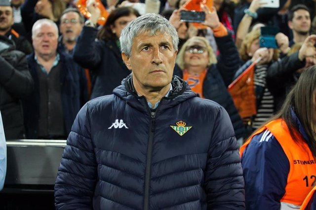 Fútbol.- El Real Betis ratifica a Quique Setién como entrenador hasta final de temporada