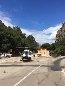 Sucesos.- Evacuado un bebé de 19 meses al caer de una altura de siete metros en Sa Calobra