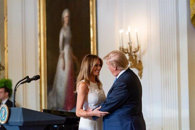 Melania Trump celebrates military mothers