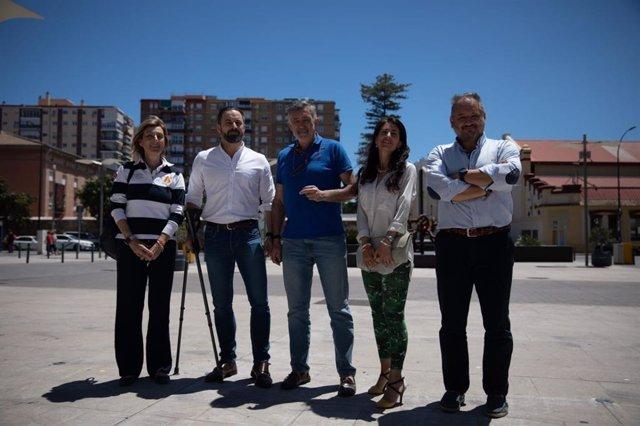 Málaga.- 26M.- Abascal (Vox) mantiene un encuentro en Málaga de cara a las elecciones municipales y europeas