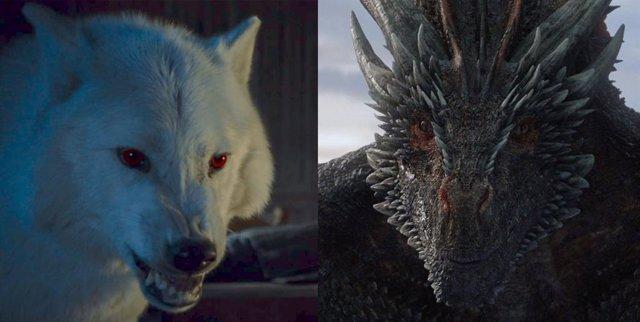 Drogon y Fantasma, dos improbables estrellas del final de Juego de tronos