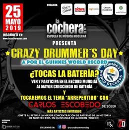 Reunión de baterías con Carlos Escobedo de Sôber para conseguir un Record Guinness
